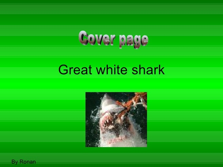 Great white shark By Ronan Cover page
