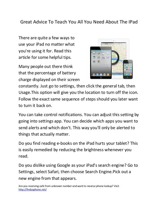 Are you receiving calls from unknown number and want to reverse phone lookup? Visithttp://findusphone.net/Great Advice To ...