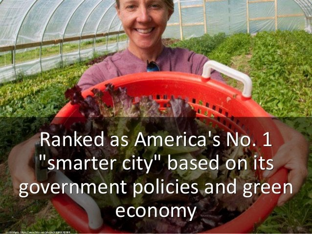 """Ranked as America's No. 1 """"smarter city"""" based on its government policies and green economy cc: USDAgov - https://www.flic..."""