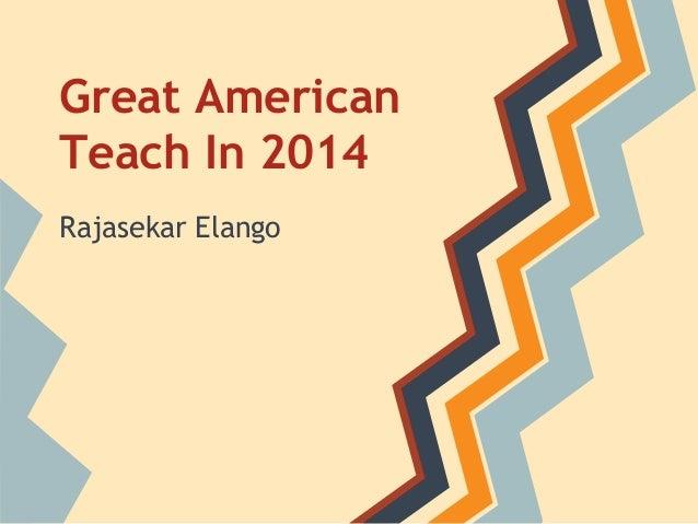 Great american teach in 2014