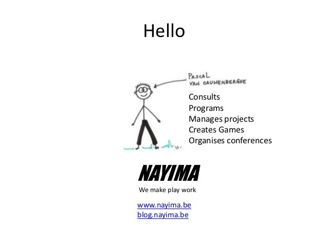 Hello              Consults              Programs              Manages projects              Creates Games              Or...