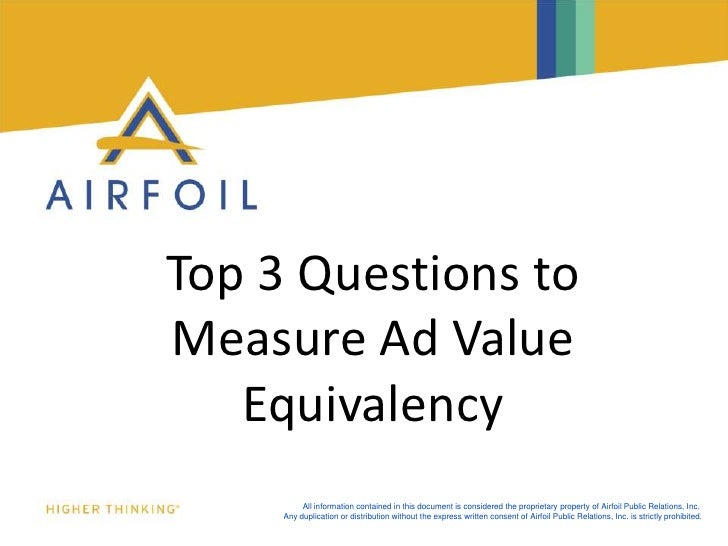Top 3 Questions to Measure Ad Value Equivalency <br />