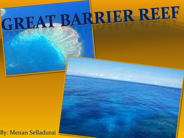 Great Barrier reef<br />By: Menan Selladurai<br />
