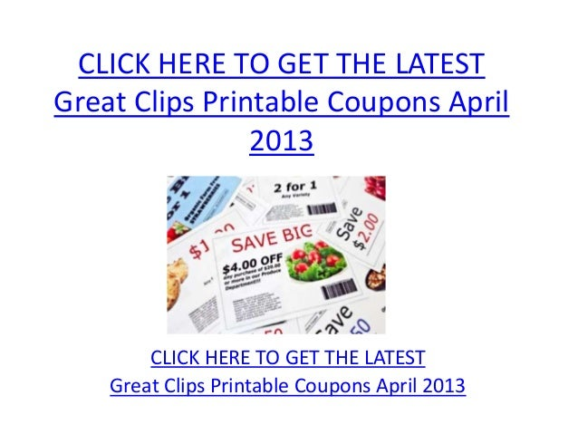 photograph about Great Clips Printable Coupons titled Wonderful Clips Printable Coupon codes April 2013 - Terrific Clips