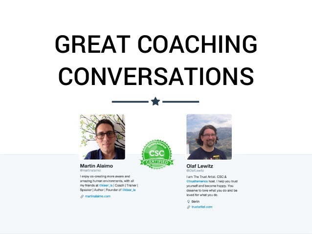 GREAT COACHING CONVERSATIONS