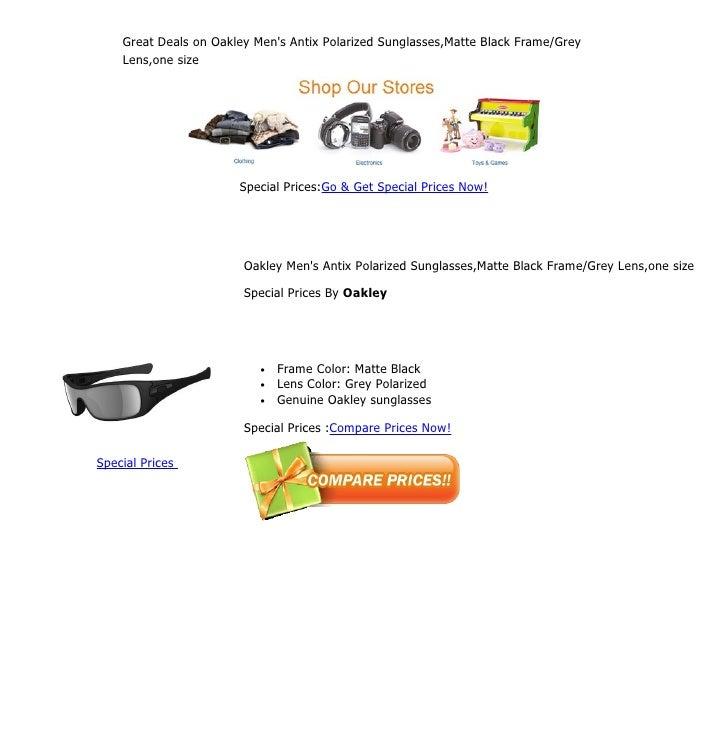 407e650925a Great deals on oakley men s antix polarized sunglasses