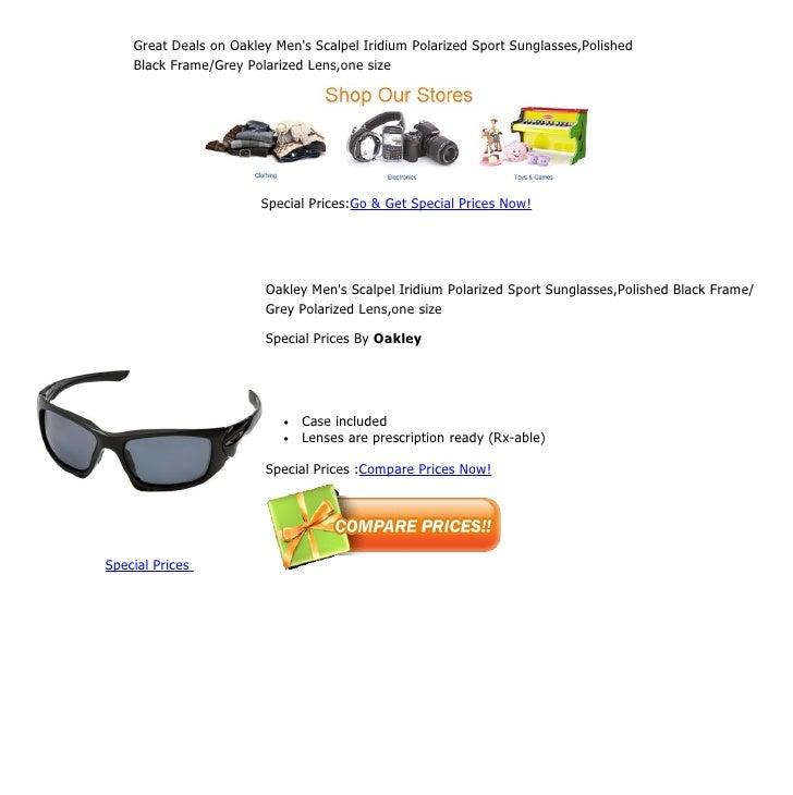 2bde775641 Great deals on oakley men s scalpel iridium polarized sport sunglasse…