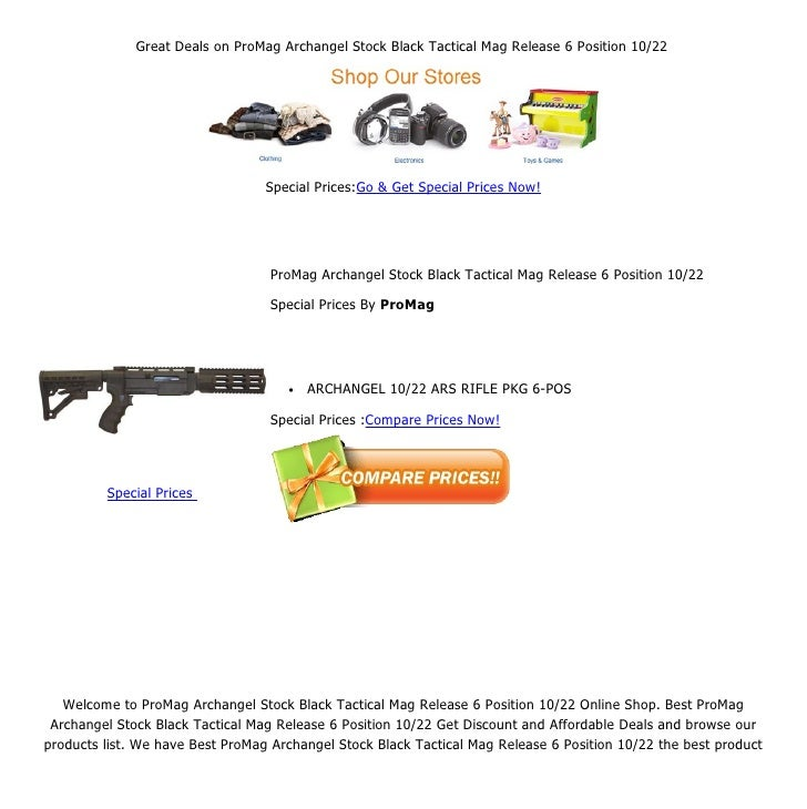 Great deals on pro mag archangel stock black tactical mag release 6 p…