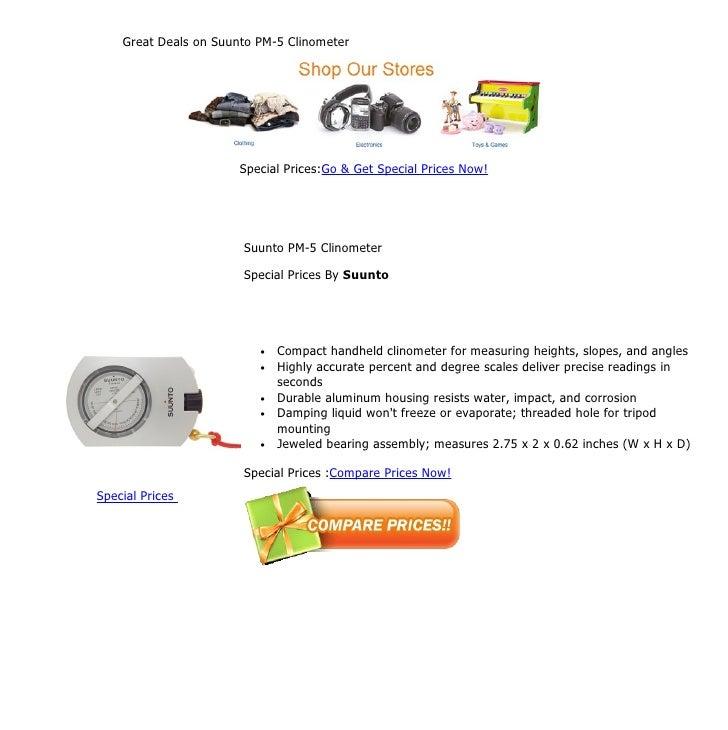 Great deals on suunto pm 5 clinometer