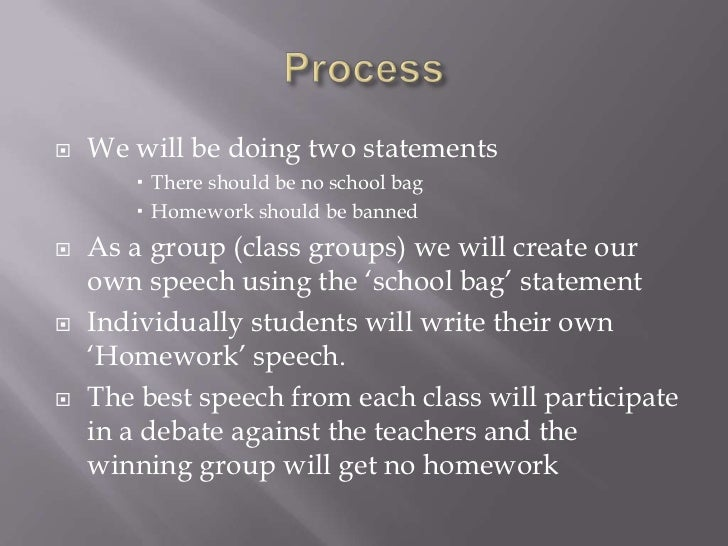 should homework be banned from schools