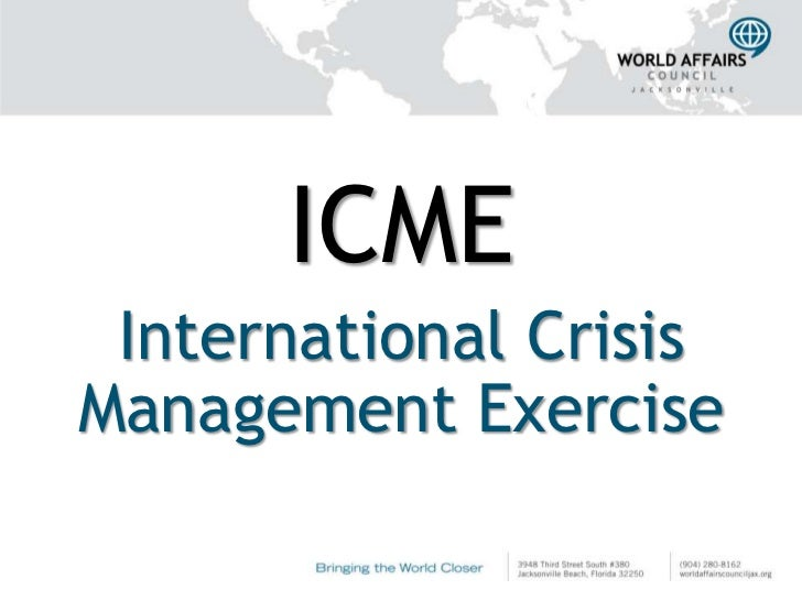 ICME International CrisisManagement Exercise