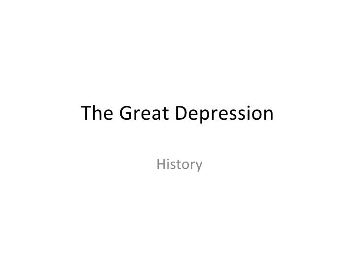 The Great Depression History
