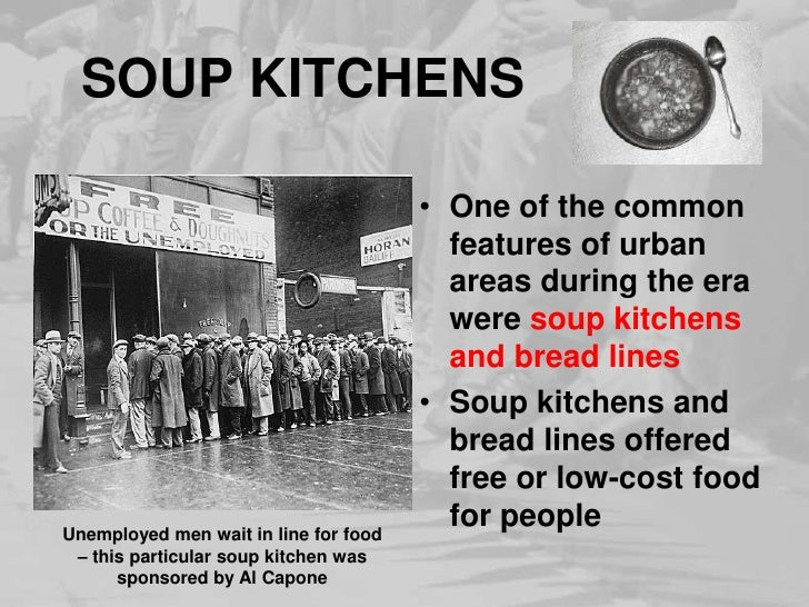 Soup Kitchen Definition Great Depression