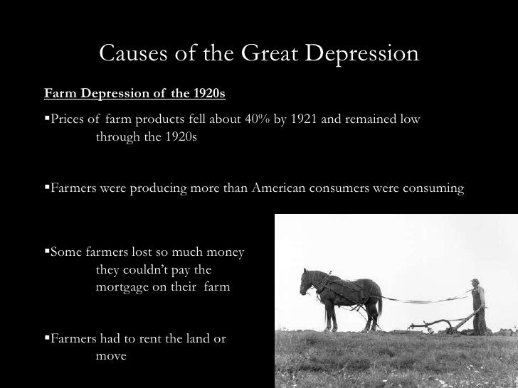 3 causes of the great depression essay