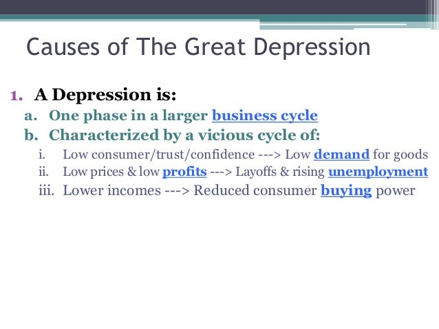 causes of the great depression the great depression 2