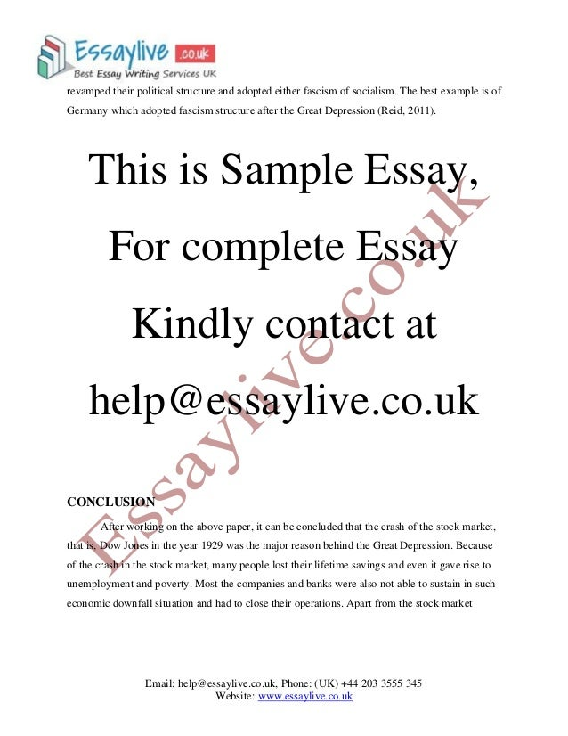 great depression research paper Beware do not use the great depression essay you've read or else you will fail because of plagiarism completing research papers takes a lot of time.