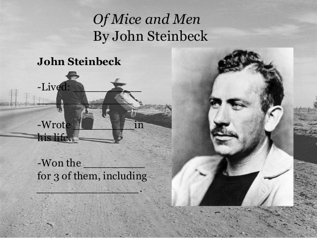 the effects of the great depression on the 1930s america in of mice and men by john steinbeck John steinbeck's famous hobos depression to life in the celebrated classic of american literature, of mice and men the great depression, and in of mice and.