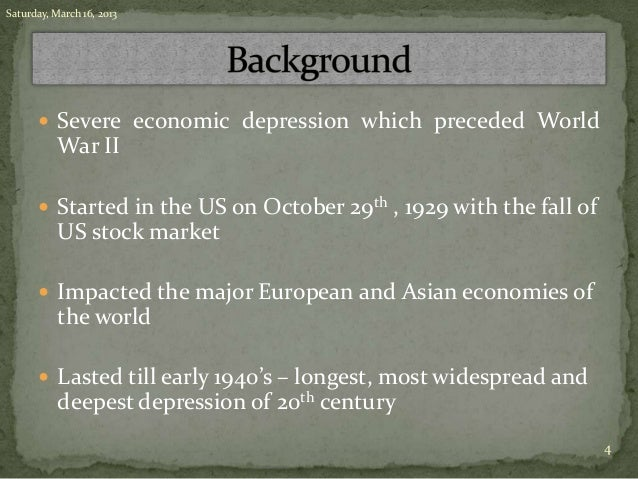 Great depression & financial crisis