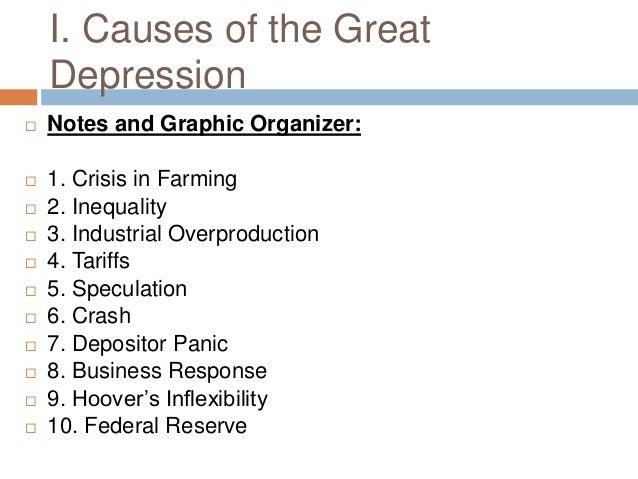 causes and effects of the great depression essays More about the cause and effects of the great depression essay causes and effects of the causes and effects of depression essay 709 words.