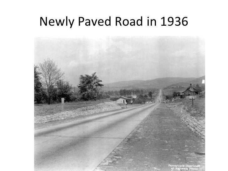 Newly Paved Road in 1936<br />