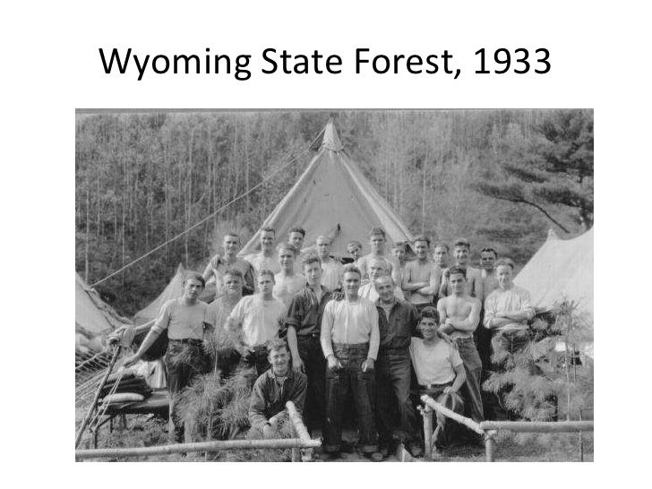 Wyoming State Forest, 1933<br />