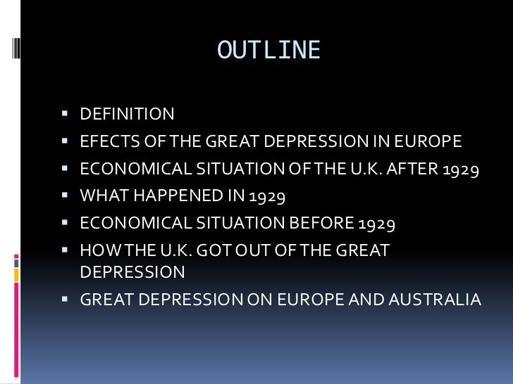 ppt great depression in europe iia outline definition efects of the