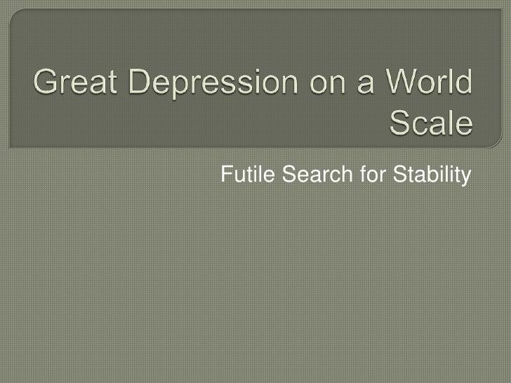 Futile Search for Stability