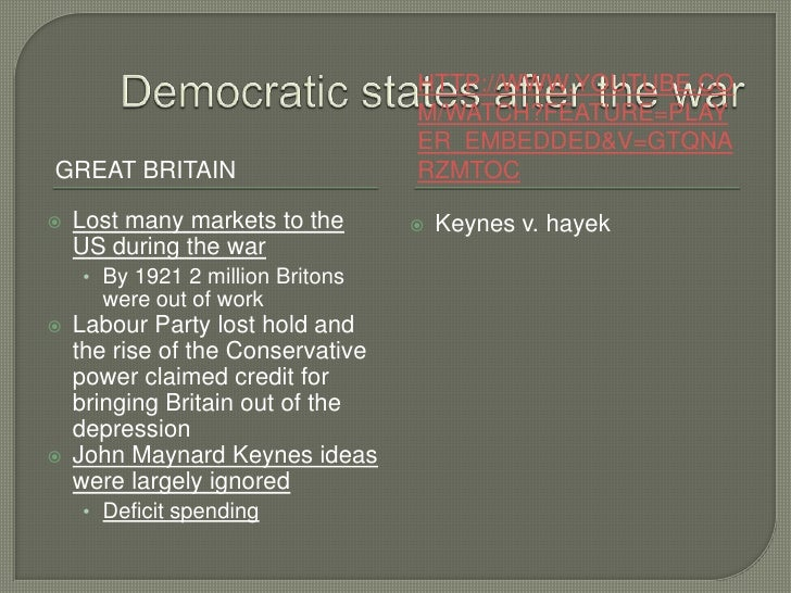 impacts from first world war on john maynard keynes ideas Especially as it affects third world countries as well as those in the first world,  second world war, neoliberalism had already  john maynard keynes,.