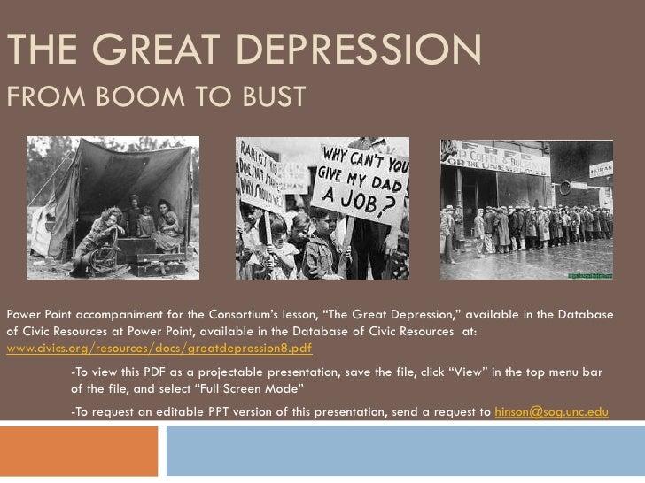 The Great Depression Pdf