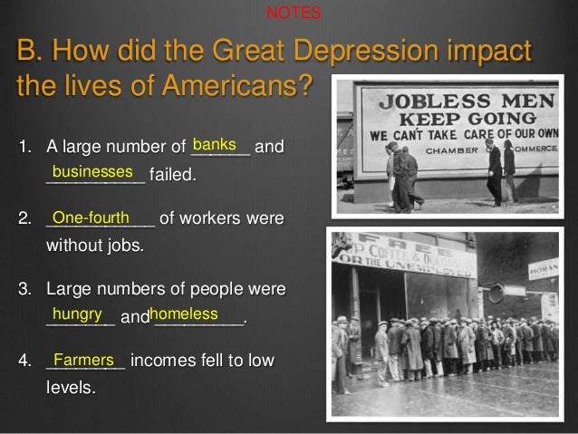 great depression presentation a c 2015