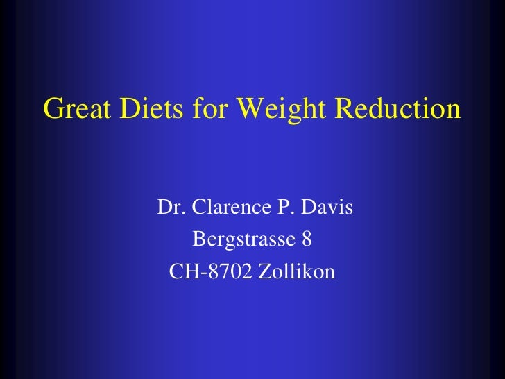 Great Diets For Weight Reduction Slide 2