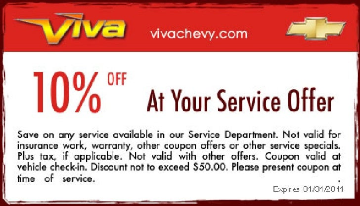 Great discount at your Service Offer – Viva Chevy TX