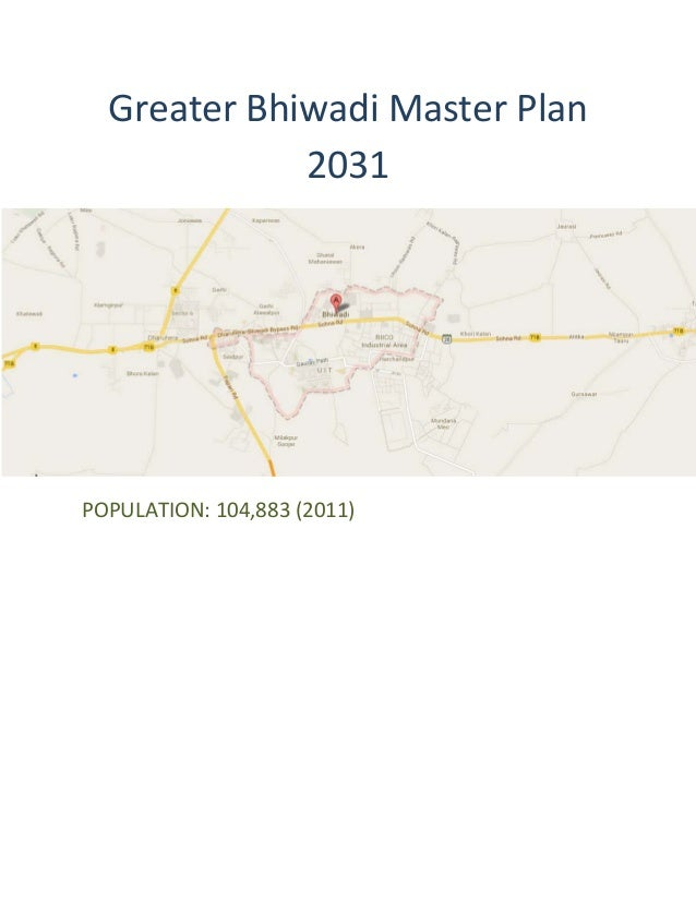 Greater Bhiwadi Master Plan 2031 Map