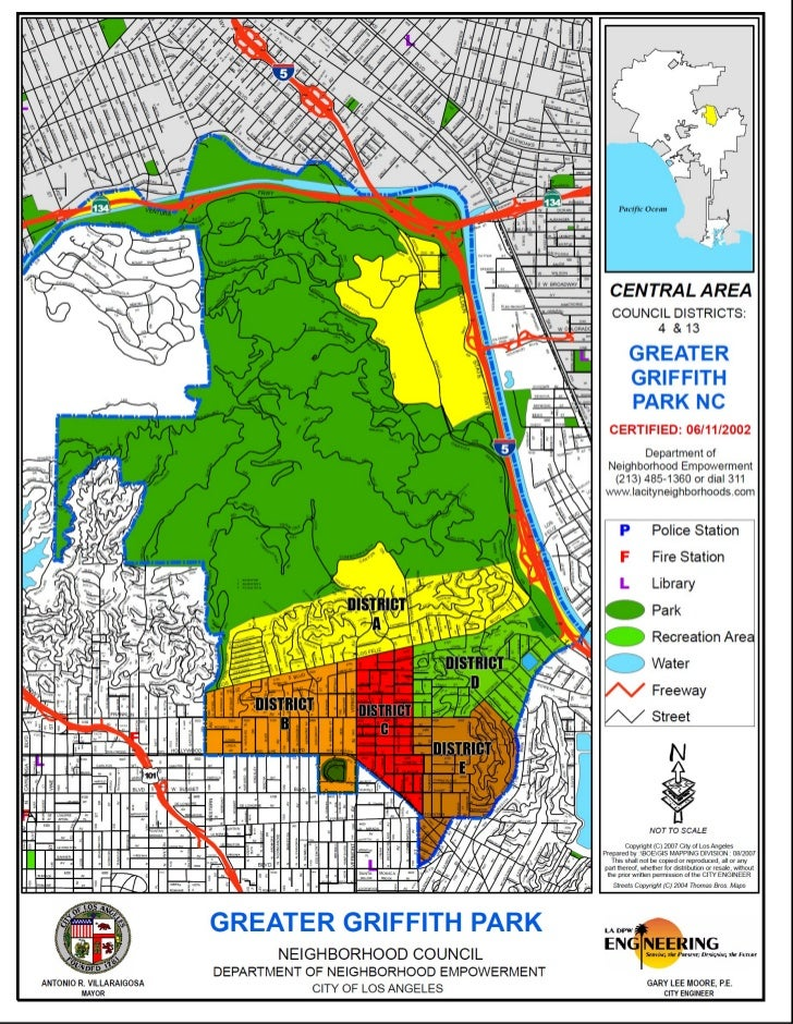 Griffith Park Los Angeles Map.Greater Griffith Park Nc Regional Map