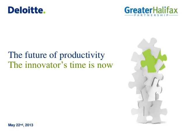 The future of productivityThe innovator's time is nowMay 22nd, 2013