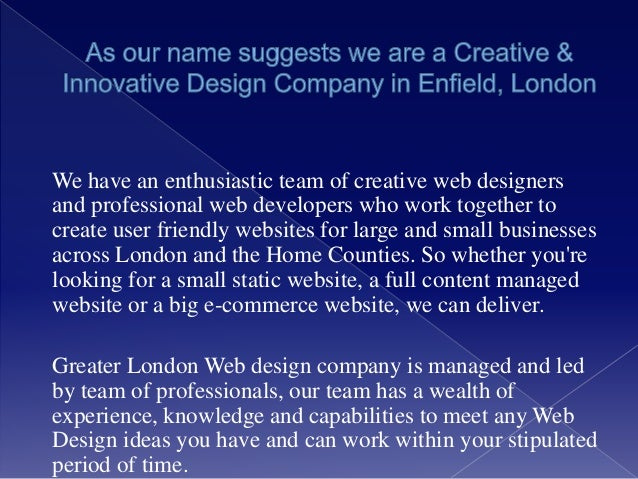Creative and Innovative Web Design Company in London - Greater london…
