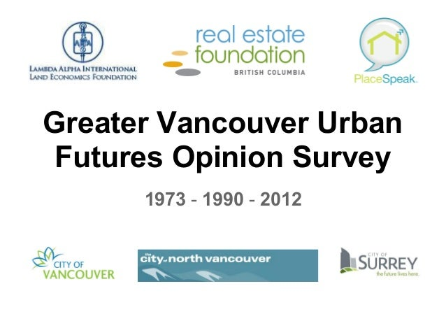 Greater Vancouver Urban Futures Opinion Survey 1973-1990-2012