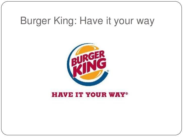 Have it your way burger king lyrics