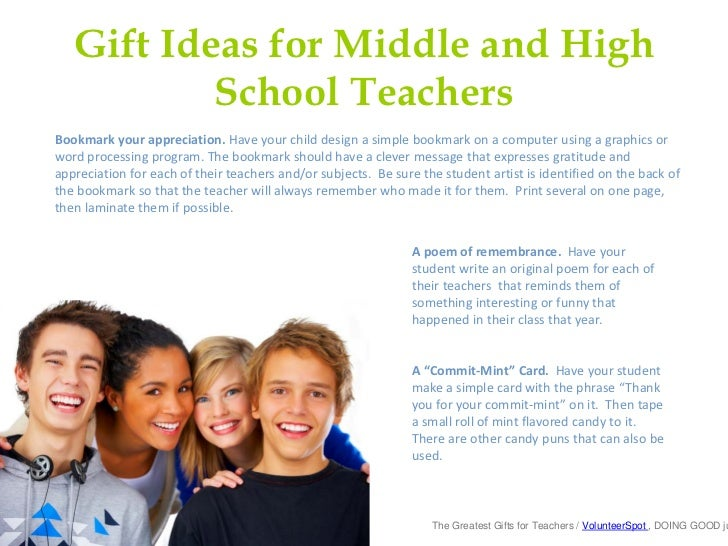 Christmas Gifts For High School Teachers Part - 47: Gift Ideas For Middle And High School ...