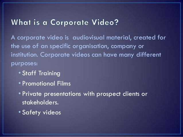 Great examples of corporate videos