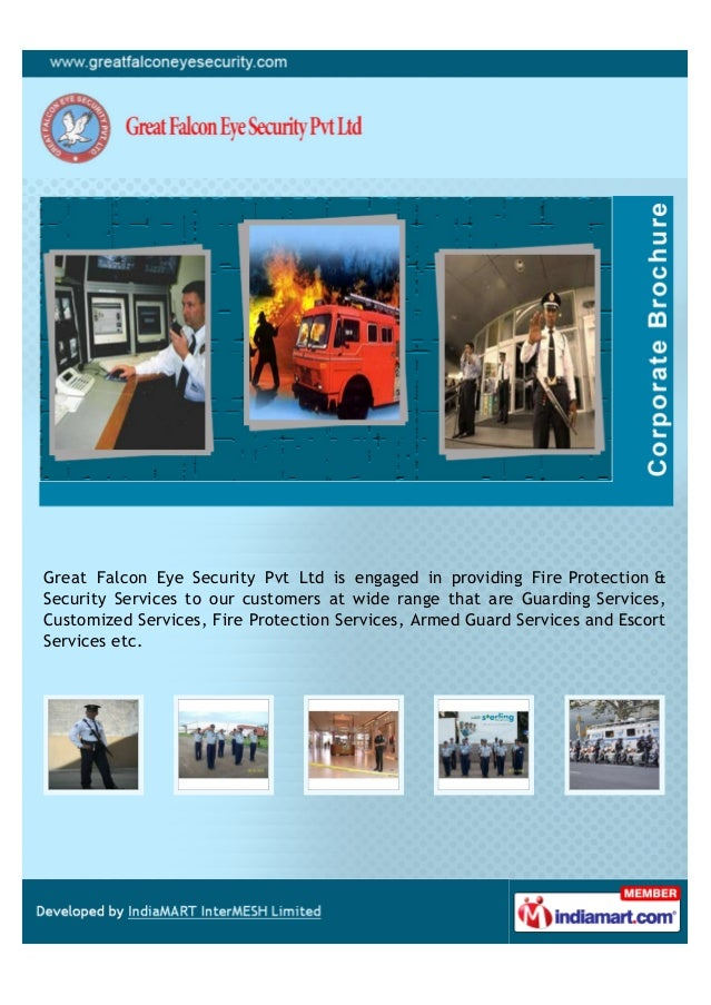 Great Falcon Eye Security Pvt Ltd is engaged in providing Fire Protection &Security Services to our customers at wide rang...