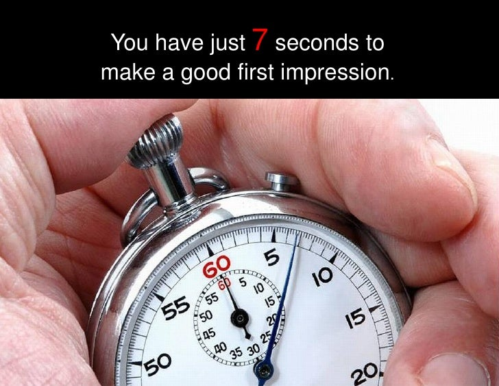 Great first impressions lead to success