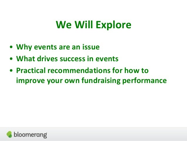 Great Fundraising Events - AFP ICON 2017 Slide 3
