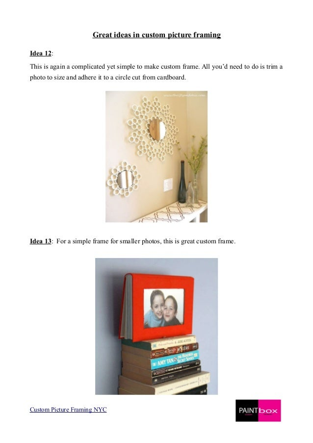 Custom Picture Framing Nyc Image collections - origami instructions ...