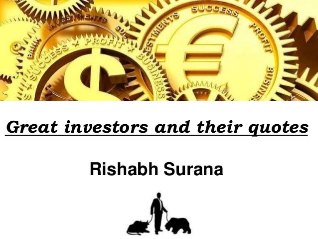 Great investors and their quotes Rishabh Surana