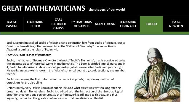 eight great mathematician Not only did the arab world revolutionize mathematics – it also revolutionized optics 8 great modern innovations we can thank muslims for.