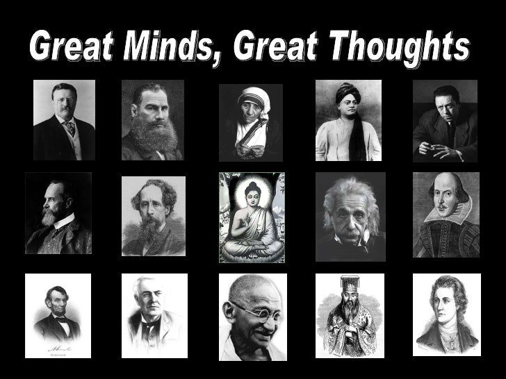 Great Minds, Great Thoughts