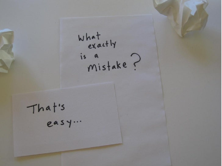 Make a Great Mistake Slide 3