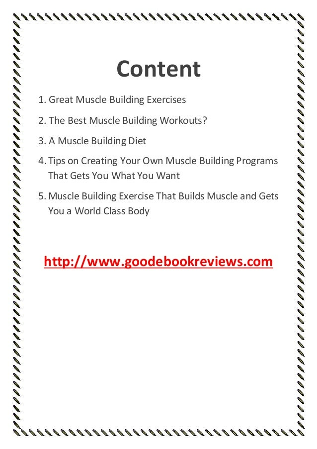 Muscle Building Exercise That Builds And Gets You A World Class Body Goodebookreviews 2 1