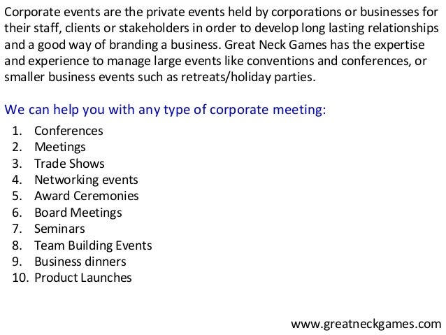 Great Neck Games Nyc Corporate Event Planners For Your Event - Type-of-corporate-events